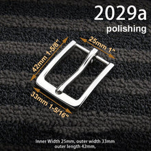将图片加载到图库查看器,1pcs Stainless Steel Belt Buckle End Bar Heel bar Buckle Single Pin Heavy-duty For Leather Craft Strap Jeans Webbing Dog Collar
