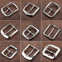 将图片加载到图库查看器,Z11 1pcs 304 Stainless Steel 4cm Belt Buckle End Heel bar Buckle Single Pin Heavy-duty For Leather Craft Strap Webbing Dog Collar