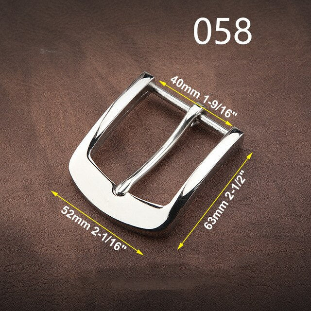 Z11 1pcs 304 Stainless Steel 4cm Belt Buckle End Heel bar Buckle Single Pin Heavy-duty For Leather Craft Strap Webbing Dog Collar