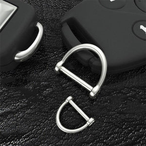 M14 1 x Stainless steel D-ringshackle Clasp Buckle Keychain Ring Hook screw pin joint Connecter Bag Strap Leathercraft Parts