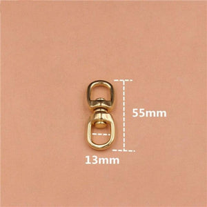 "M42 1piece Solid Brass Swivel Eye Rotating Connector ""8""-shape for Keychain Wallet Round Circle Key Ring Metal Buckle 4 Size"
