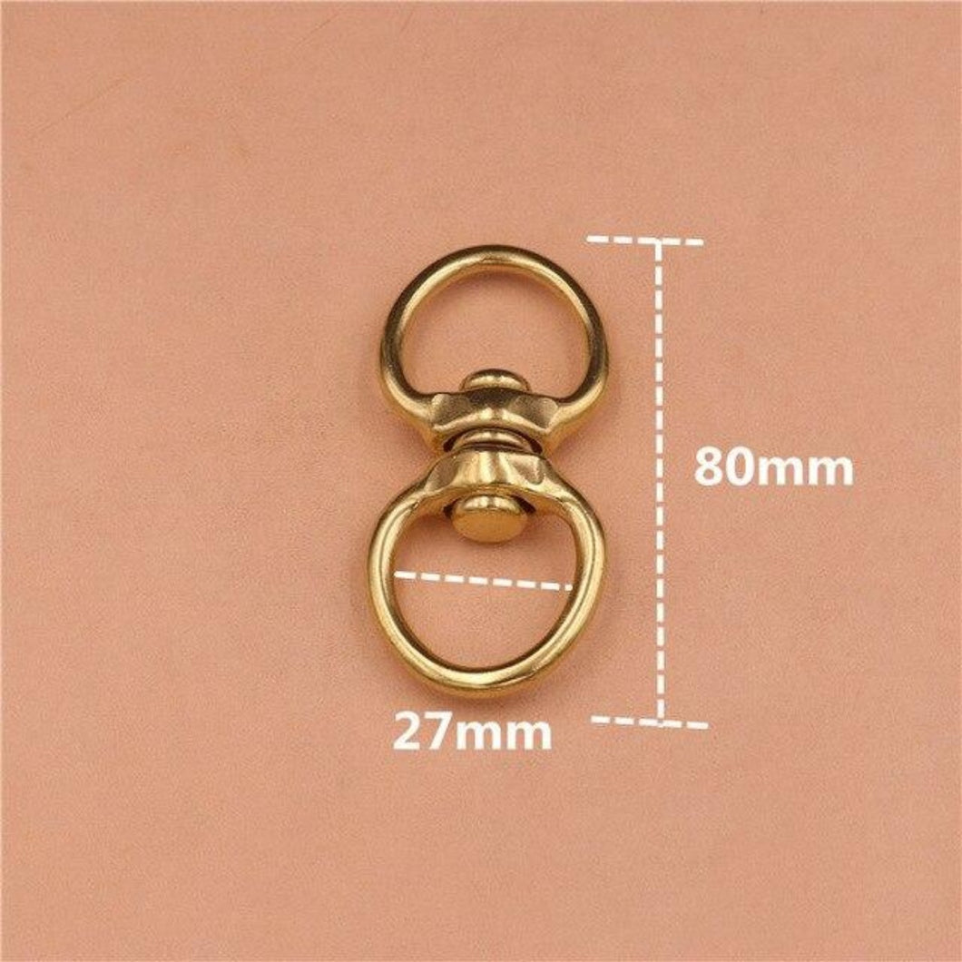M42 1piece Solid Brass Swivel Eye Rotating Connector