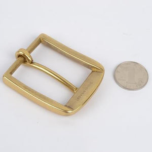 DIY leather craft hardware accessories solid brass pin belt buckle 39mm inner diameter 3pcs/lot