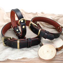 将图片加载到图库查看器,8 Dog Collar Perro Genuine Leather Pet Padded Dog Collar Ajustable For Medium Large Dogs French Bulldog German Shepherd M L XL