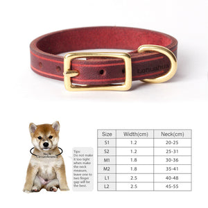 8.2 1Handmade Oiled Leather Dog Collar Natural Plant Dyeing Collar for Dog Puppies Cats Retro Environmental Supplies Pet Products
