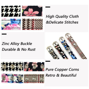 8.2 1Houndstooth Rhinestones Cat Collar Fashion Retro Collar For Cats Kitten Puppies Pup Cat Supplies Accessories For Pet Puppy