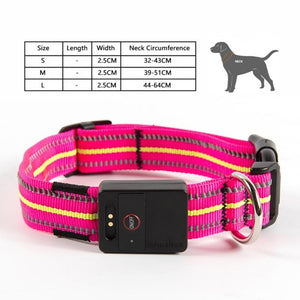 8.2 1Waterproof LED Dog Collar Original Magnetic Charging Glowing Collar For Dogs Anti-Lost Safe Luminous Dog Collars Accessories