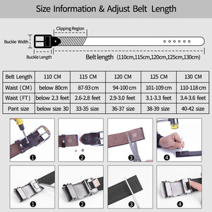 3 Vintage Belt For Men Genuine Leather Men's Belt Strap Casual Cowskin Pin Buckle Male Men's Belt