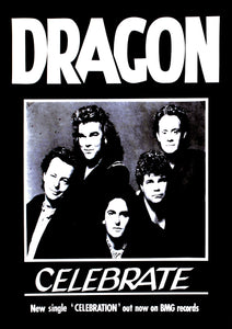 'Celebration' Record Company Single Promo 1989. Black & White Print