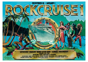 Rockcruise #1 1977. Cancelled Tour Poster - Rare Find Full Colour Print