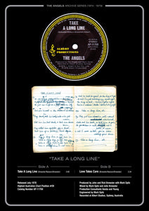 4. 'Take a Long Line' Single with Original Note Book Lyrics
