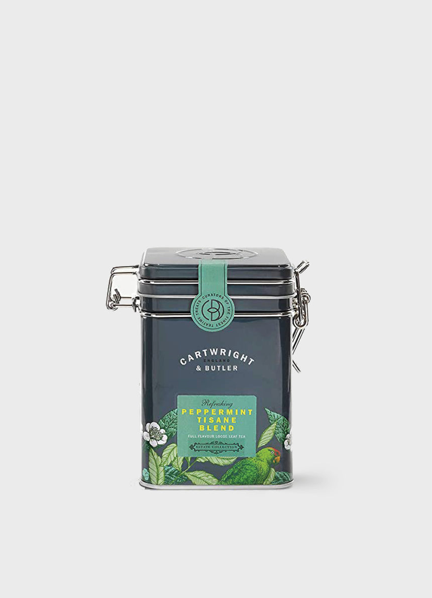 PEPPERMINT TISANE BLEND LOOSE LEAF TEA IN CADDY