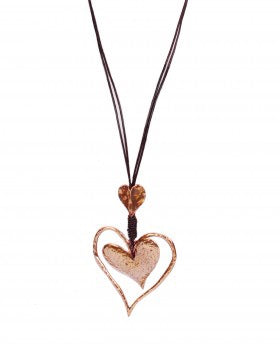 Rose Gold Floating Heart Necklace