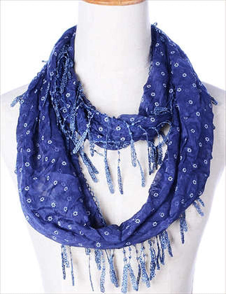 Denim Blue Infinity Scarf