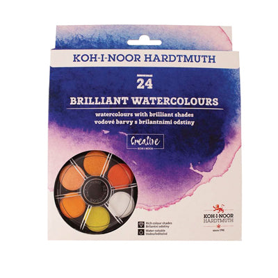 Koh-i-Noor Anilinky Brilliant Watercolours - set of 24