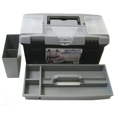 The Art Toolbox offers lidded compartments, removable tray and twin water tanks.