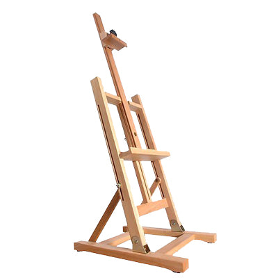 Solid, oiled beech wood table easel holds canvases up to 47cm high and 55cm wide.