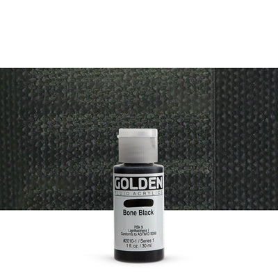 Golden Fluid Acrylics Bone Black