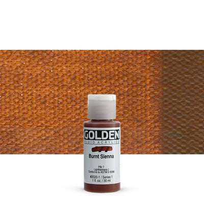 Golden Fluid Acrylics Burnt Sienna
