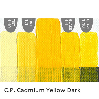 Golden Heavy Body Acrylic paint CP Cadmium Yellow Dark