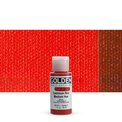 Golden Fluid Acrylics Cadmium Red Medium hue