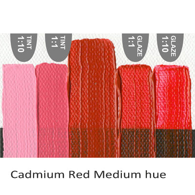 Golden Heavy Body Acrylic paint Cadmium Red Medium hue