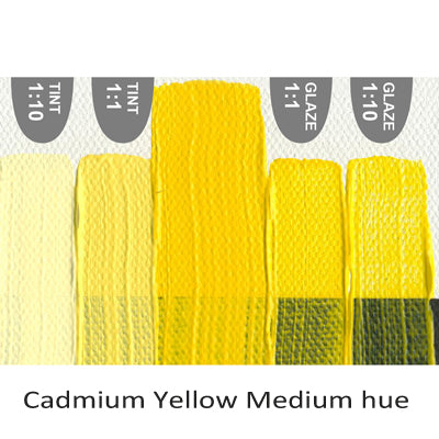 Golden Heavy Body Acrylic paint Cadmium Yellow Medium hue