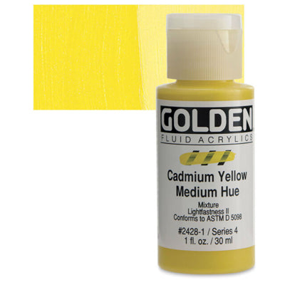 Golden Fluid Acrylics Cadmium Yellow Medium hue