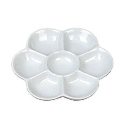 "Ceramic 7 well Daisy Palette - 4.5"" diameter"