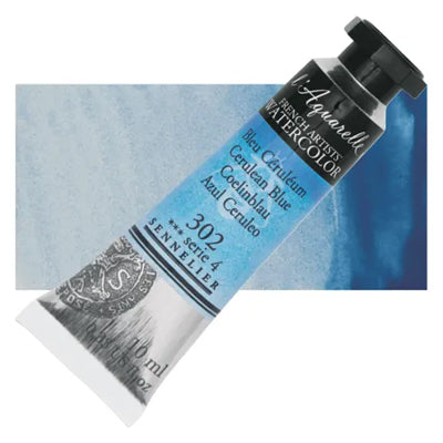 Sennelier L'Aquarelle Watercolours Cerulean Blue 302