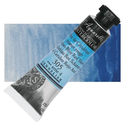 Sennelier L'Aquarelle Watercolours Cerulean Blue Red Shade 306