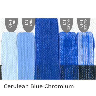 Golden Heavy Body Acrylic paint Cerulean Blue Chromium