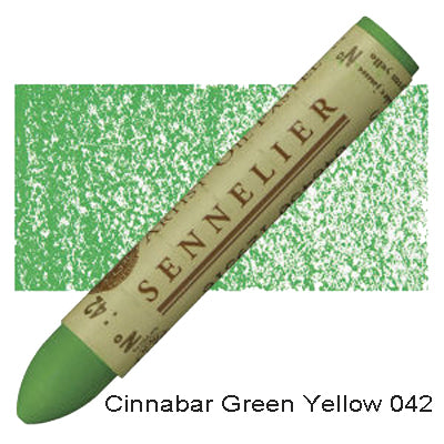 Sennelier Oil Pastels Cinnabar Green Yellow 042