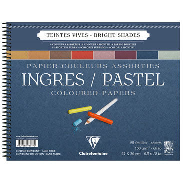 Clairefontaine Ingres Spiral Pastel Pad