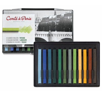 Conté Sketching Crayons Carrés create crisp, tight lines rather than the more smudged look of pastel and charcoal.
