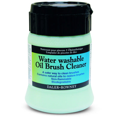 Water Washable Oil Brush Cleaner is a solvent free, low odour water washable cleaner that contains natural oils to clean oil paint from brushes.