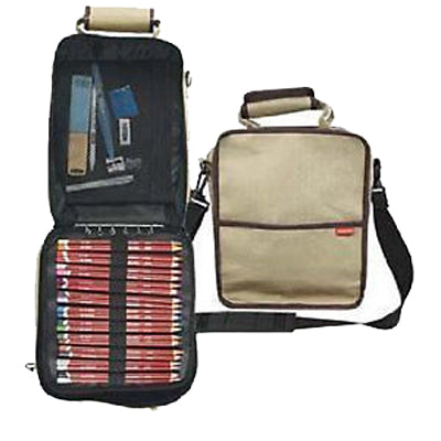 Carry all Case pencil storage holds up to 132 pencils plus a range of drawing accessories and an A5 sketchbook.