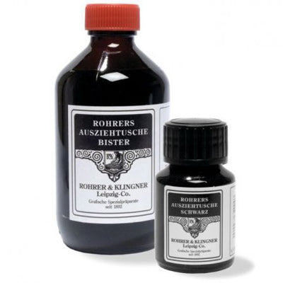 Pigmented inks which can be thinned with distilled water and are waterproof and eraser-proof when dry