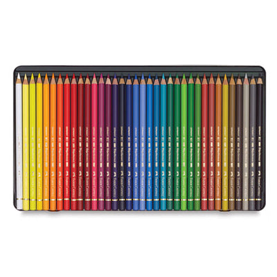 Quality oil-based colour pencils coloured with high-quality artists' pigments suspended in an oil-based binder