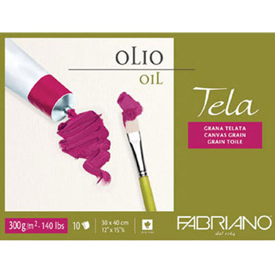Oil painting paper that has an internal sizing that offers an ideal absorption for oil colours