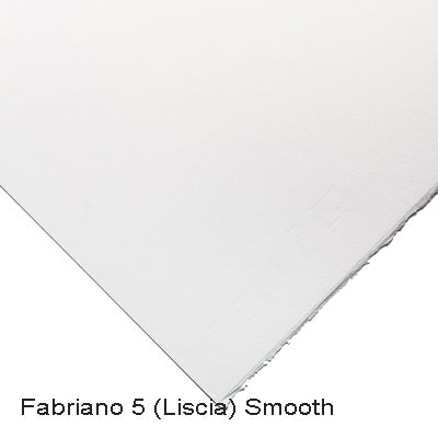 Exceptionally smooth paper, surface sized watercolour paper
