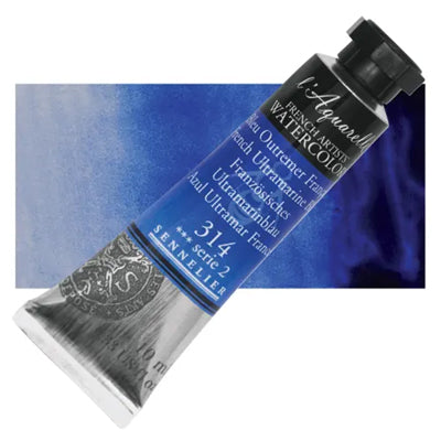 Sennelier L'Aquarelle Watercolours French Ultramarine Blue 314