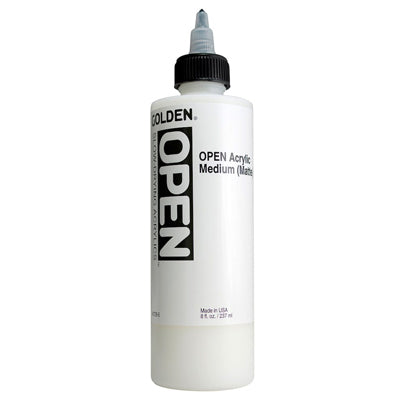 Golden OPEN Acrylic Medium (Matte or Gloss) - 237ml