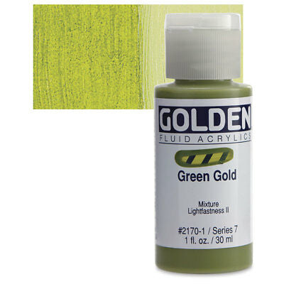 Golden Fluid Acrylics Green Gold