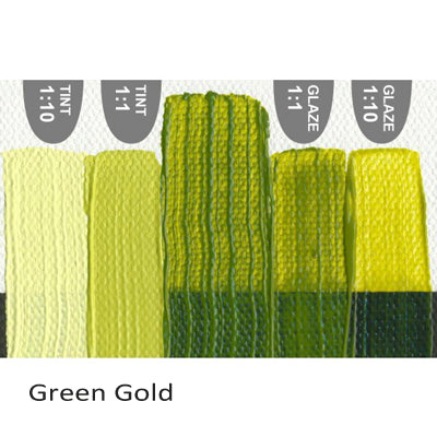 Golden Heavy Body Acrylic paint Green Gold
