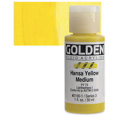 Golden Fluid Acrylics Hansa Yellow Medium