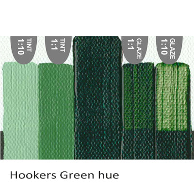 Golden Heavy Body Acrylic paint Hookers Green hue
