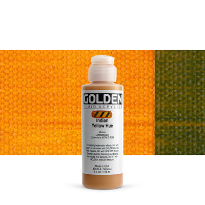Golden Fluid Acrylics Indian Yellow hue