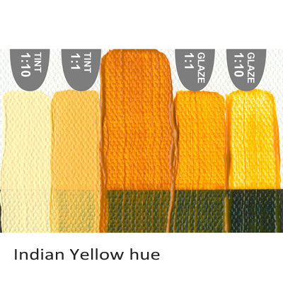 Golden Heavy Body Acrylic paint Indian Yellow hue