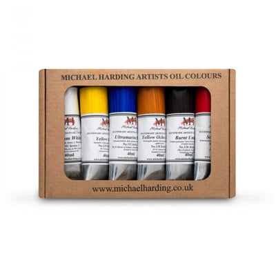 Michael Harding oil paints have a greater pigment content and contain no fillers